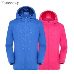 Wholesale uv protection shirts - Wholesale-Facecozy Loves Summer Outdoor Fishing Shirt Hooded UV Protection Colorful Breathable Quick Dry Hiking Clothes