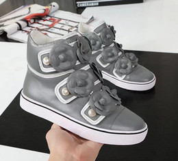 Wholesale Woman Boots Flower - 2017 Winter Autumn Women's brand design flat shoes sneakers fashion luxury flowers ankle boots Chaussures