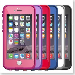 Wholesale Snow Proof Iphone - 2016 fre cell phone case Waterproof Case for iPhone 6s 6 4.7 inch High quality New fre Water Dirt Snow Proof protective case 20pcs by DHL