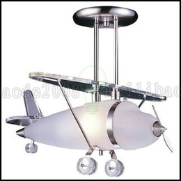 Wholesale Children Study - Elk Lighting Satin Nickel Prop Plane Pendant Light Ceiling Lamps for children Room LLWA222