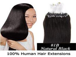 "Wholesale Micro Virgin Hair Extensions - Micro loop hair extensions Human Remy Hair 18"" 20"" 22"" 24"" Brazilian Virgin Hair Straight 50g lot 0.5g strand 13 Colors"