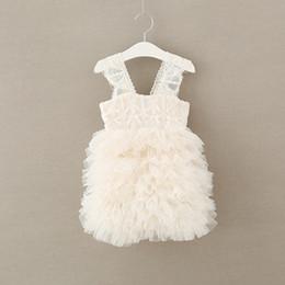 Wholesale Wholesale Boutique Formal Dresses - Summer Girl boutique clothing lace Tiered Pettiskirt Princess Dresses kids Party Dress Tutu Dress Formal Dresses Children Clothes A1183