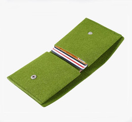 Wholesale Coin Cans - 2016 new felt wallet folding multi-function coin purse fashion card package drop shipping Can be customized adding logo