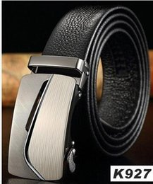 Wholesale Men S Real Leather - 2017 New Arrival Real Striped Adult Fashion Men Free Leather Belt Ultra Long Canvas Belt Man Automatic Buckle Strap Knitted