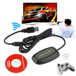 Wholesale Xbox Wireless Gaming Adapter - USB PC wireless gaming receiver for xbox 360 controller microsoft XBOX360 console gamepad adapter accessories Windows 7 8