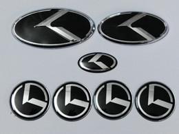 adesivi gtr Sconti 7pcs / set Nuovo emblema distintivo K logo nero per KIA OPTIMA K5 / emblemi per auto / adesivo 3D