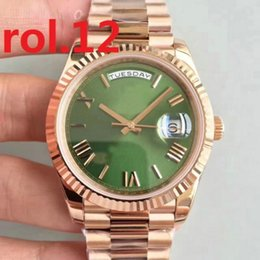 Wholesale gold president watch - New President Mens Watch Sweep Automatic Movement Mechanical Day-Date Rose Gold Stainess Steel Sapphire Glass Original Clasp Men Watches
