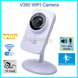 cámara effio Rebajas Mini Wifi Cámara IP V380 Inalámbrico HD 720P 1280 * 720 Seguridad P2P Monitor Visión Nocturna Vigilancia Puerto de Tarjeta TF Puerto Cámara Inteligente Envío Gratis