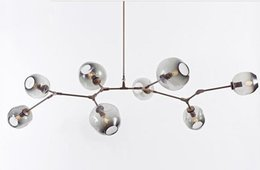 Wholesale Led Chandelier Pendants - new Lindsey Adelman Chandeliers lighting modern lamp novelty pendant lamp natural tree branch suspension Christmas light hotel dinning room