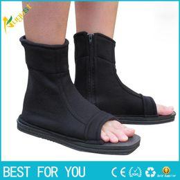 Wholesale Cosplay Costumes Free Shipping - New hot Free shipping Naruto Cosplay Shoes Konoha black blue cosplay Ninja boots Kakashi Shoes