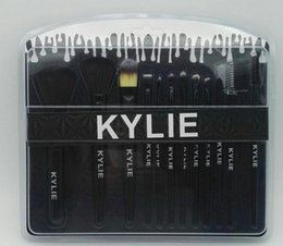 Wholesale Bb Beauty Cream - KYLIE Beauty 12pcs Makeup Brushes Face Brush sets Foundation BB CC Cream Brush Makeup Tools 2017 new hot