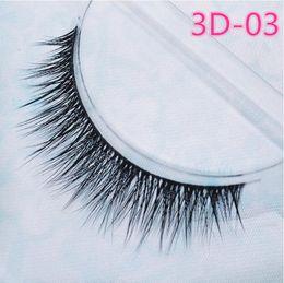 Wholesale Stems Hair - 2016 False eyelashes authentic Korean high-grade multi-layer cross section the 3D simulation eyelashes transparent stems 3D03(10 pairs lot)