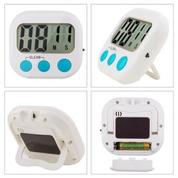 Wholesale Hours Counter - 2016 New Digital LCD Screen Count Down Up Kitchen Cooking Alarm Timer Electronic Clock Magnetic Counter kitchentimer Free DHL shipping