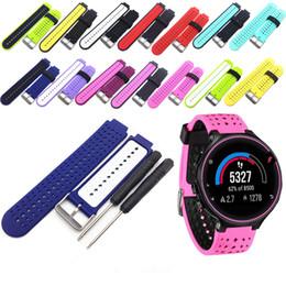Wholesale Gps Garmin - FC0038 Newest Replacement Universal Watchband Smart Watch Bracelet Wristband for Garmin Forerunner 220 230 235 620 630 GPS Watch Adjustable