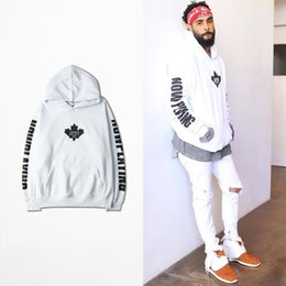 Wholesale Now Natural - 2017 Bieber Purpose Tour NOMAD Hoodies White NOW PLAYING Sweatshirts With Fleece Men Women Hoody YHWY0079XX