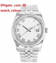 Wholesale Jubilee Stainless - Mens Limited Edition Date Steel & White Gold 36 MM Stainless Steel Bracelet ETA 2831 automatic Mens Steel Jubilee movement Mens Watches