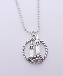 Wholesale Wholesale Candle Charms - FREE SHIPPING Hot Sale Alloy Candle Necklace,N1659