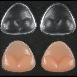 Wholesale Silicone Breasts Pads - Sexy Women Breast Pads Silicone Bra Gel invisible inserts Push Up Bra Insert Breast Bra extender Cleavage Triangle Pads Enhancer 3010 150pcs