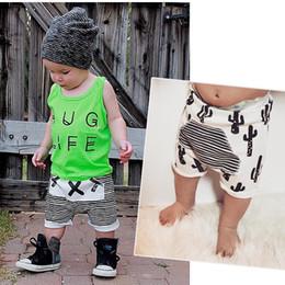 Wholesale Shorts Baby Boy Jeans Pants - NEW Ins Baby boys shorts stripe Haroun pants cotton 80-120cm Children's Shorts Jeans free shipping C593