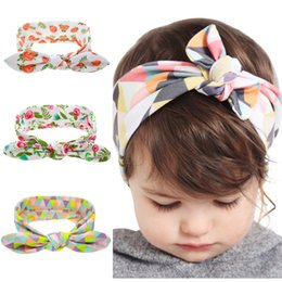Wholesale Kids Head Bands Bows - Bohemian Headband Cotton Girl Baby doughnut Bowknot Flower Turban Twist Head Wrap Twisted Knot Soft Hair Band Kids Headbands Bandanas