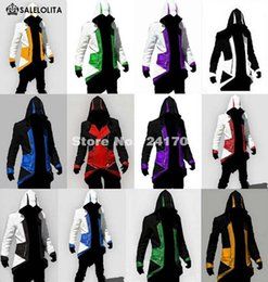 Wholesale Boys Costumes Assassins Creed - Wholesale- Plus Size Assurance 3 New Conner Kenway Men's jacket anime cosplay clothes assassins creed costumes for boys kids womens