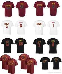Wholesale Roses Names - 17-18 season USA basketball CAVALIER T-shirt CLEVELAND 3 Isaiah Thomas 23 Lbron JAMES 1 ROSE 9 WADE any custom NAME AND Number Tee