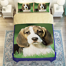 Wholesale Dog Drying Machine - 3D Bedding Set Bedsheet Reactive Printing Pet Dog Pattern Home Textiles Duvet Covers Bed Linen Pillow Cases Wholesale