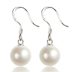 big drop pearl earrings Coupons - Pearl Earrings For Women Big Ball Luxury Bohemian Jewelry 925 Sterling Silver Drop Earrings Bridal Wedding Jewelry Fashion New