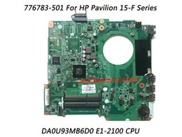 Wholesale Ddr3 Cpu - Classy Motherboard For HP Pavilion 15-F Series Laptop with CPU E1-2100 PN 776783-501 DA0U93MB6D0 DDR3 100% Fully Tested