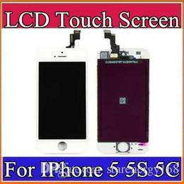 taccuino blu Sconti Display LCD di alta qualità Touch Screen Digitizer Schermo completo con telaio Completo di ricambio per iPhone 5 5S 5C A-LCD