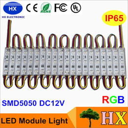 Wholesale 12v Led Signs - Superbright LED module light lamp SMD 5050 IP65 waterproof LED light module sign LED back lights SMD 3led DC12V RGB Warm White Red