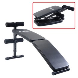 Wholesale Home Workouts - New Adjustable Folding Arc-shaped Sit Up Bench Gym Home Exercise Fitness Workout