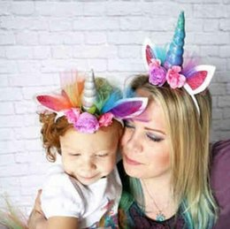 Wholesale Horns Costume - Fashion Magical Decorative Unicorn Horn Head Party Hair Headband Fancy Dress Cosplay Costume Jewelry Gift