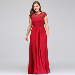 Wholesale Sequined Designer Evening Dresses - 2018 Real Image Plus Size Red Chiffon Long Evening Dresses Ruffle Lace Beaded Floor Length Hollow Back Formal Bridesmaid Dresses CPS261