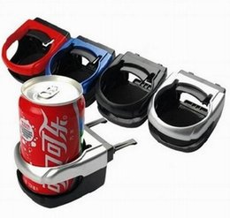 Wholesale Car Water Bottle Holder - High quality Clip-on Auto Car Truck Vehicle Air Condition Vent Outlet Can Drinking Water Bottle Coffee Cup Mount Stand Holder Accessories