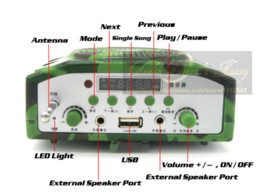 Wholesale Hunting Bird Decoys - Outdoor Hunting Bird Caller MP3 Player 800M Remote Control 888pcs Birds Sound Loudspeaker With External Speaker & Camo Decoy Bag