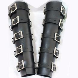 Wholesale Pvc Bdsm - Bdsm PVC Leather Hand Arm Cuffs Bondage Slave Restraints Belt Lockable In Adult Games,Fetish Sex Flirting Toys For Men And Women