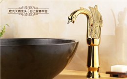 Wholesale Instant Heat Faucet - Fashion High quality Europe style brass single lever bathroom swan design hot and cold basin faucet sink faucet tap mixer