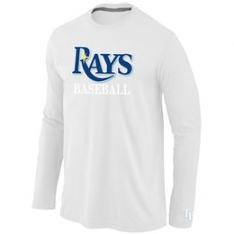 Wholesale Cheap Long Tee Shirts - Hot Tampa Bay Rays Long Sleeve T-Shirt O-Neck Cheap Tees Shirts Fashion Cubs Cotton Practice T-shirt 7 Colors