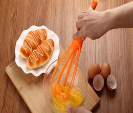 Wholesale Food Mixer Wholesalers - New Arrive Rotatable Mixer 2in1 Rotatable Egg Beaters Food-grade PP Whisk Cook Tools Kitchen Blender Detachable Washable Egg Mixer