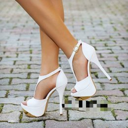 Wholesale B Sexy Photo - Kolnoo Womens Fashion Real Photos High Heel Sandals Ankle Strap Platform Peep Toe Summer Spring Sexy Casual Party Wedding Shoes XD312