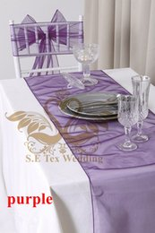 Wholesale Nice Tables - Nice Looking Purple Color Organza Table Runner For Wedding Decoration Good Looking