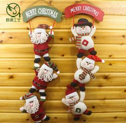 Wholesale Father Christmas Cover - 2016 New Style Christmas Hanging doll Window Ornaments Father Christmas Crafts Christmas Festival Decorations Accessories Christmas Gift