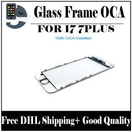 Argentina Panel frontal de la pantalla táctil Lente externa de vidrio con prensado en frío Marco central con OCA instalado para iPhone 7 iPhone 7 plus Envío gratuito de DHL Suministro
