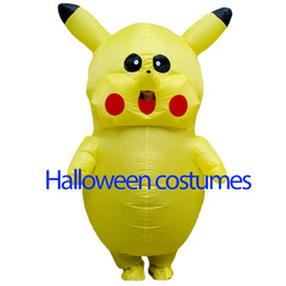 Wholesale Halloween Blow Ups - Hot mascot adult Halloween party dress walking inflatable Pikachu clothing fan blow up for a size for Person1.5 m, 2 m