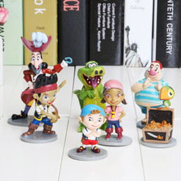 Wholesale Jake Neverland Toys - 7pcs lot 5-10cm Anime Cartoon Jake and The Neverland Pirates PVC Action Figure Toys for children