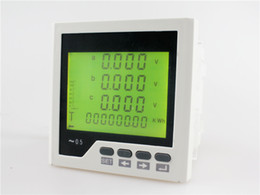 Wholesale Lcd Meter Panel - 3D3Y panel size 96*96 low price three phase ac lcd communication rs485 digital multifunction meter, for industrial usage