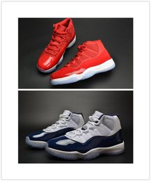 Wholesale Sport Shoes Man New Model - Drop Shipping Retro 11 Basketball Shoes 2017 New Models Airs 11S Win Like 82   Win Like 96 Gym Red Nave Blue Sport Sneakers