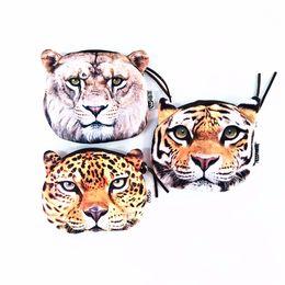 2019 животное тигр M223 Симпатичные мультфильм Домашние животные Китти Кошка Тигр Личность Плюшевые монеты Кошелек Кошелек Перо Сумка Девушка Женщины Студенческий подарок Оптовая дешево животное тигр