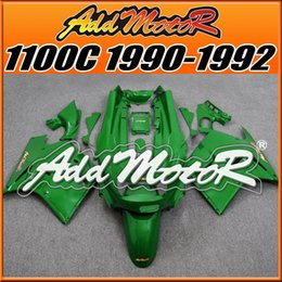 Wholesale Kawasaki 1992 - Fairings Addmotor Best Choice Compression Mold ABS For Kawasaki ZX11 ZZR1100C 1990-1992 90 91 92 All Green K1113 +5 Free Gifts